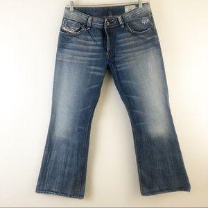 Diesel Button Fly Zaf Flare Legs Jeans W33 L30